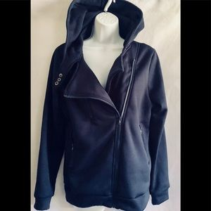 Sweaters - A navy blue hoodie M-L